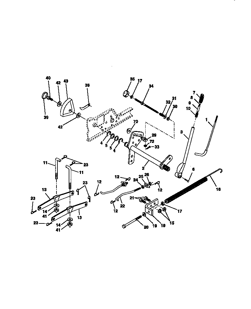 LIFT ASSEMBLY Diagram & Parts List for Model 917273021