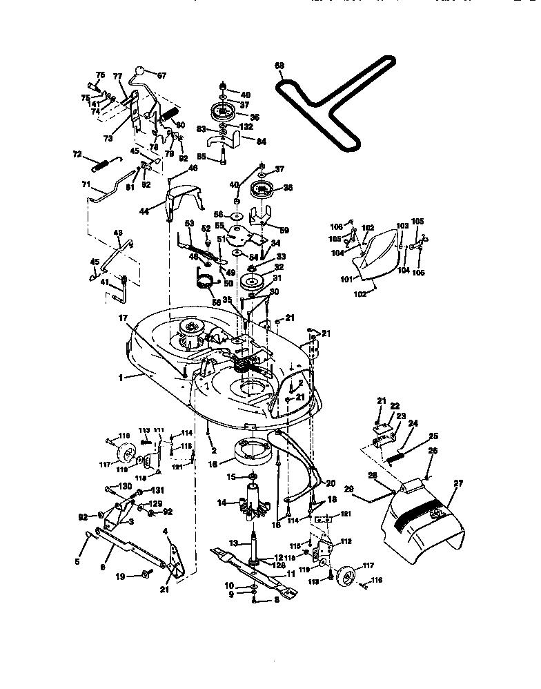 MOWER DECK Diagram & Parts List for Model 917270710