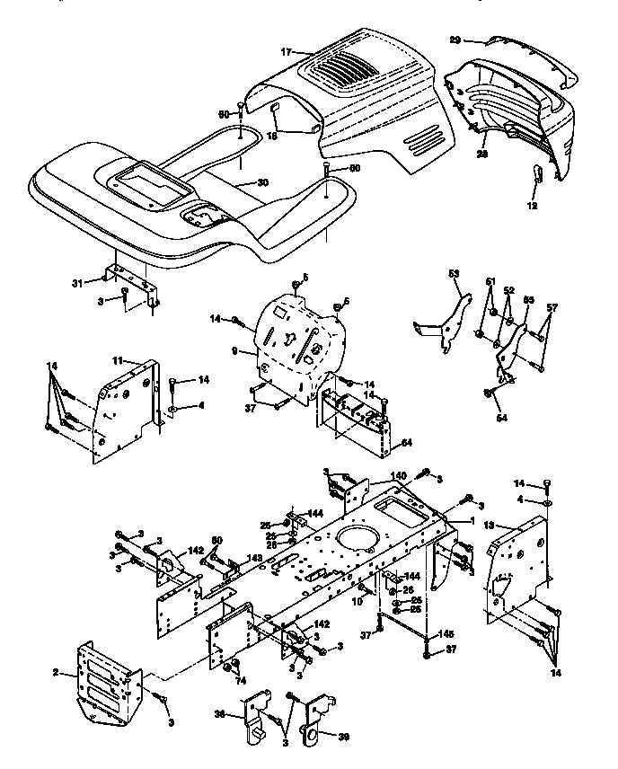 CHASSIS AND ENCLOSURES Diagram & Parts List for Model
