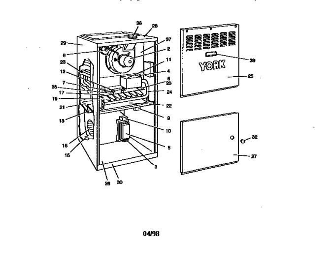 york p3hua12n06401 furnace parts  sears partsdirect
