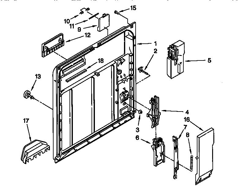 INNER DOOR Diagram & Parts List for Model 66517765890