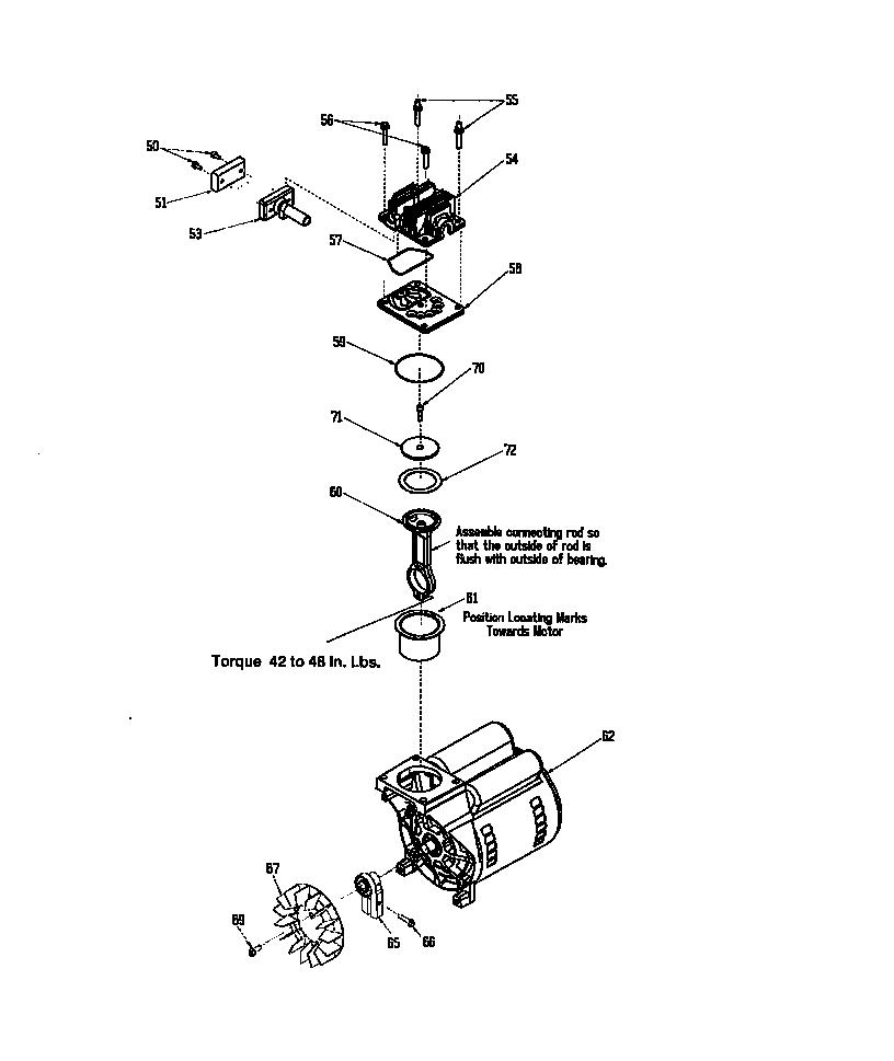 COMPRESSOR PUMP Diagram & Parts List for Model 919163550