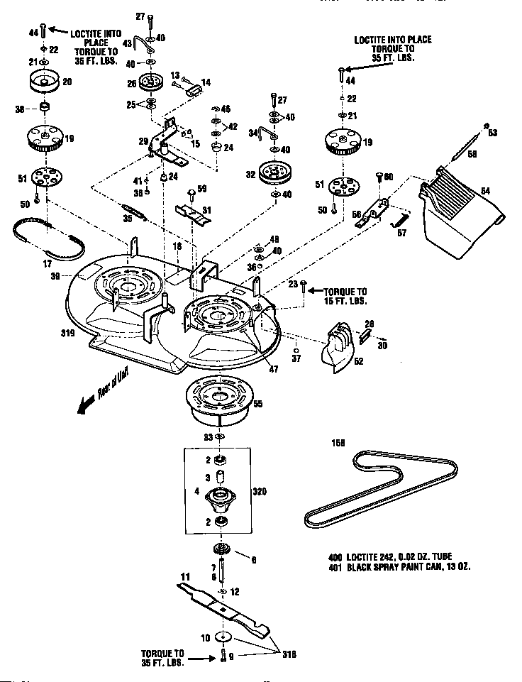 MOWER DECK ASSEMBLY Diagram & Parts List for Model