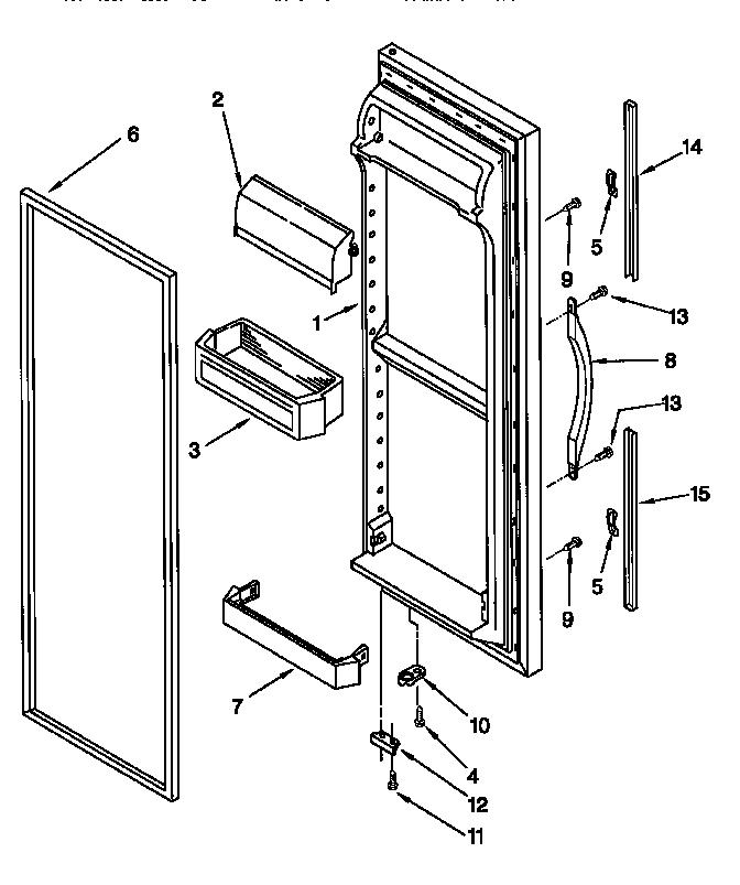 REFRIGERATOR DOOR Diagram & Parts List for Model