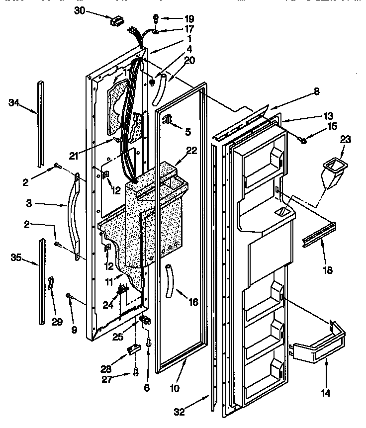 Ledningsdiagram For Kenmore Refrigerator