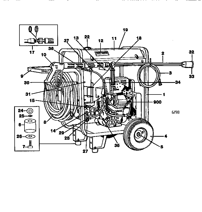 replacement pressure washer pump craftsman Archives