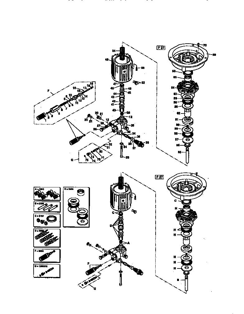 PUMP BREAKDOWN PK16482 Diagram & Parts List for Model