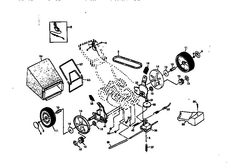 ROTARY LAWN MOWER 917.377541 Diagram & Parts List for
