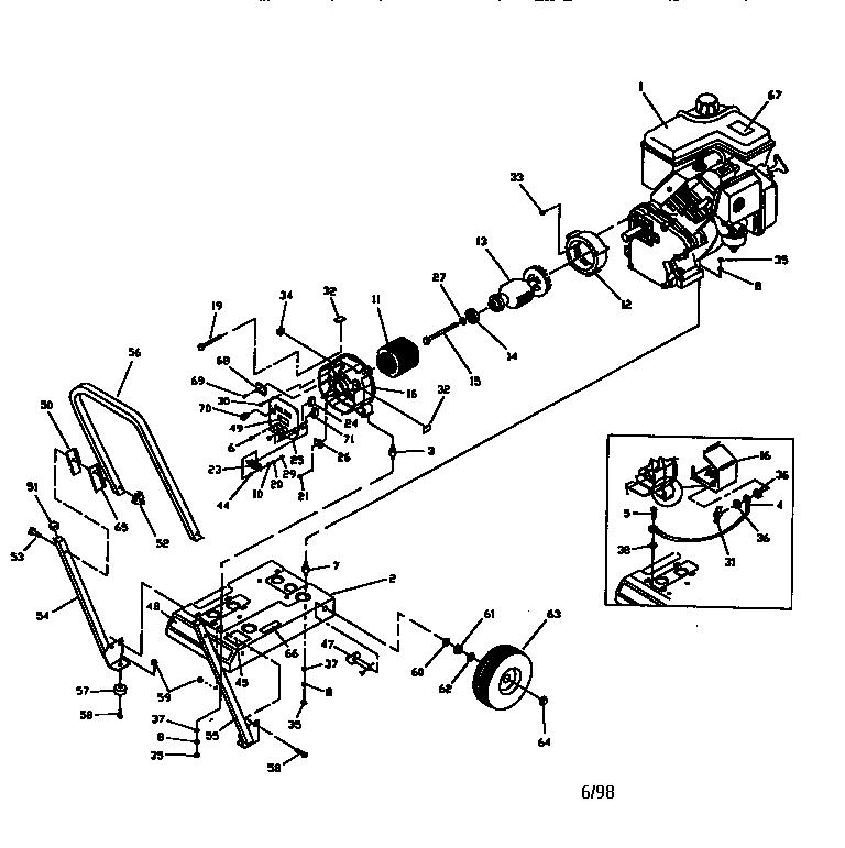 CRAFTSMAN 2500w Generator On A 2 Wheel Cart Craftsman 2500