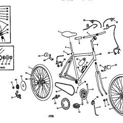 Bike Parts Diagram P58 Transducer Wiring Roadmaster Model 3870sr Bicycles Genuine