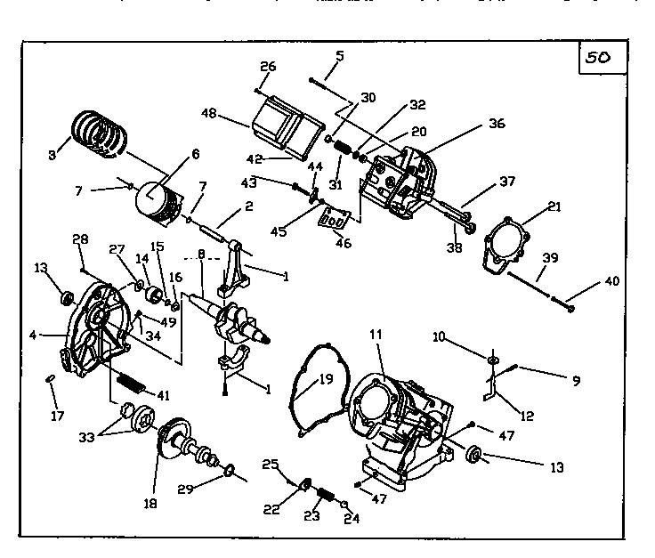 CRAFTSMAN Pressure Washer Long block assembly Parts