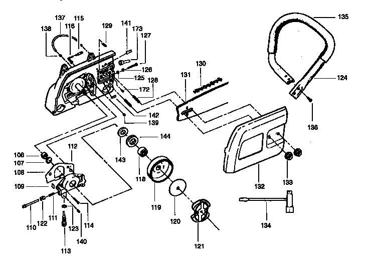 HANDLE ASSEMBLY Diagram & Parts List for Model 358351240