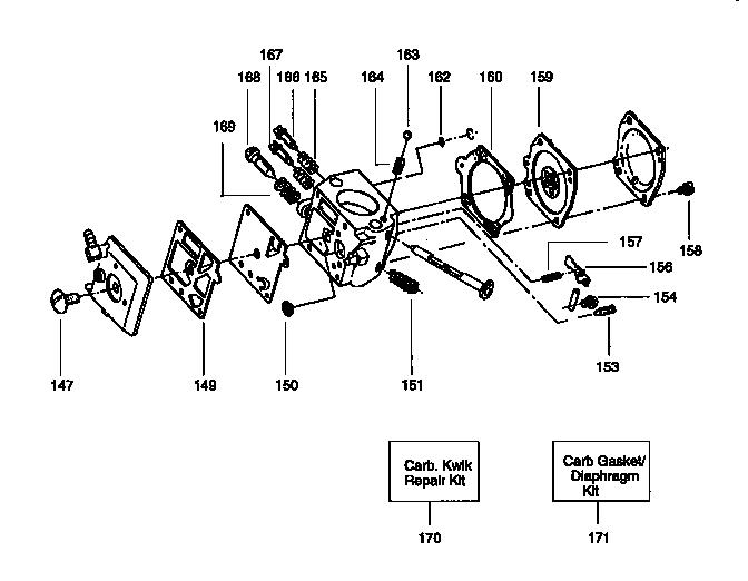 CARBURETOR Diagram & Parts List for Model 358351240