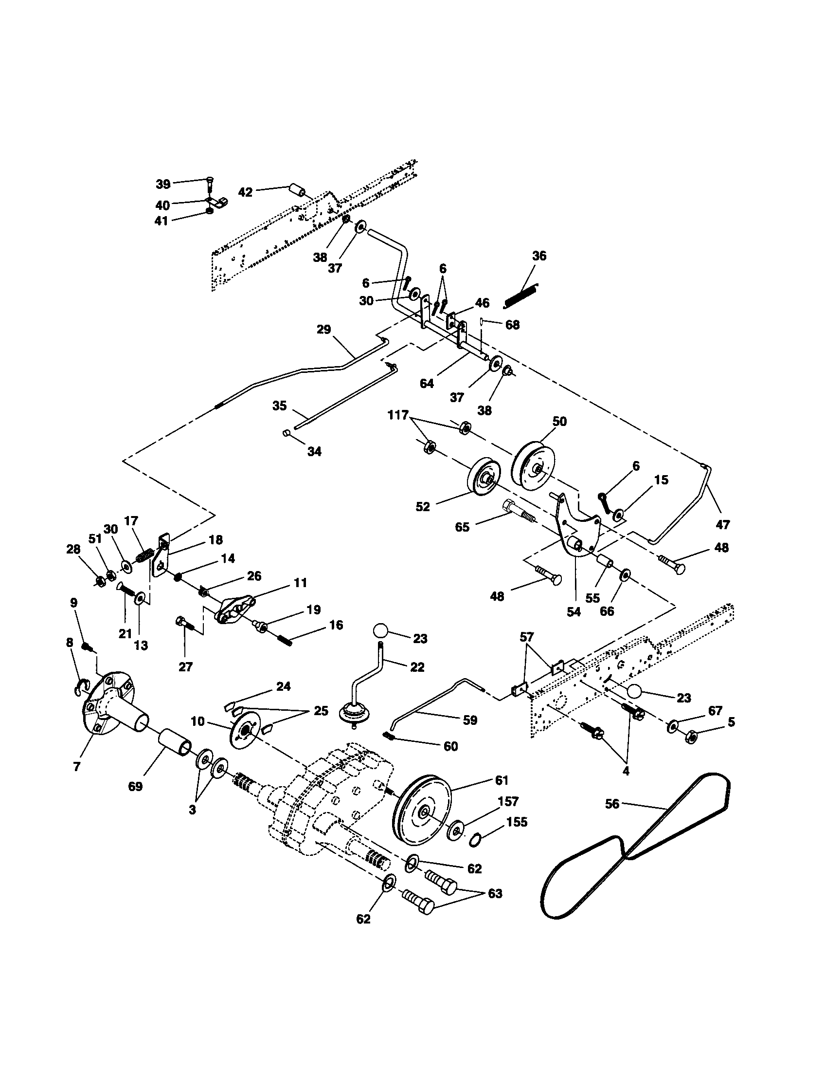 GROUND DRIVE Diagram & Parts List for Model GT2254