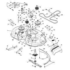 Husqvarna Lawn Mower Parts Diagram Wiring For Front Fog Lights Riding Schematic Model Lth18538 Tractor Genuine Yth2348 Belt Replacement