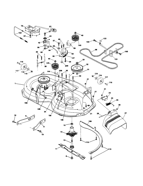small resolution of husqvarna lth18538 mower deck diagram