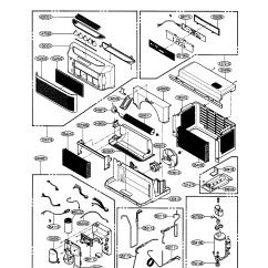 Lg Window Ac Wiring Diagram 4 Pin Trailer Connector Air Conditioner Parts Model Bp6000er Sears