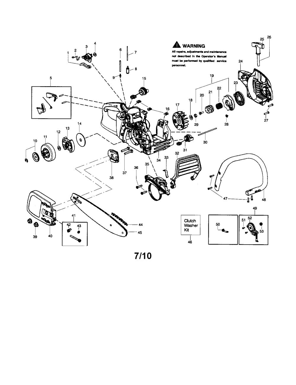 medium resolution of mcculloch mc3516 chassis bar handle chain diagram