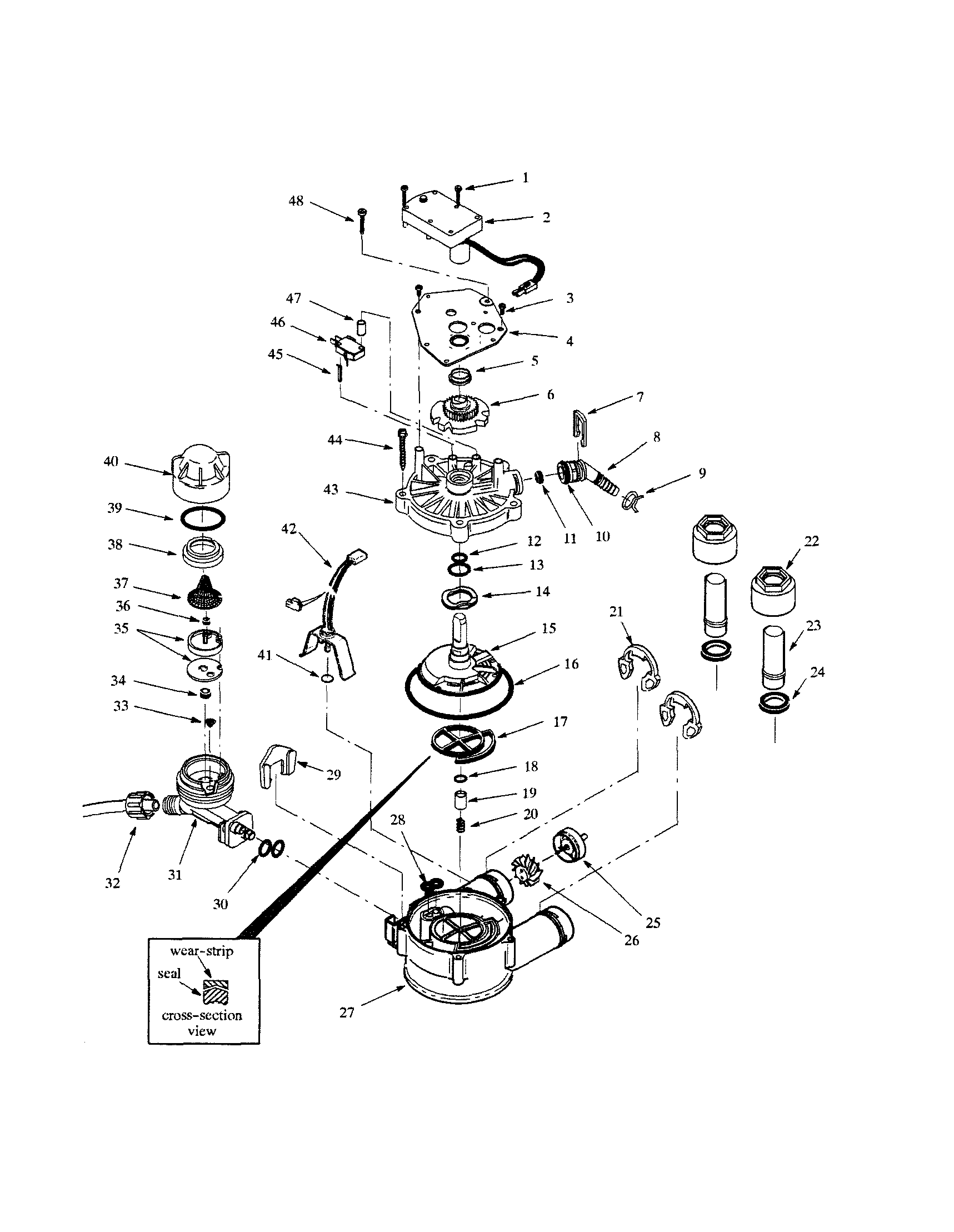hight resolution of whirlpool whes30 valve body rotor disc diagram