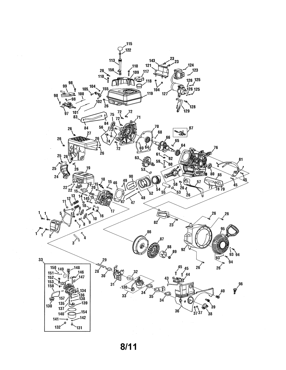 medium resolution of mtd 265 su engine diagram
