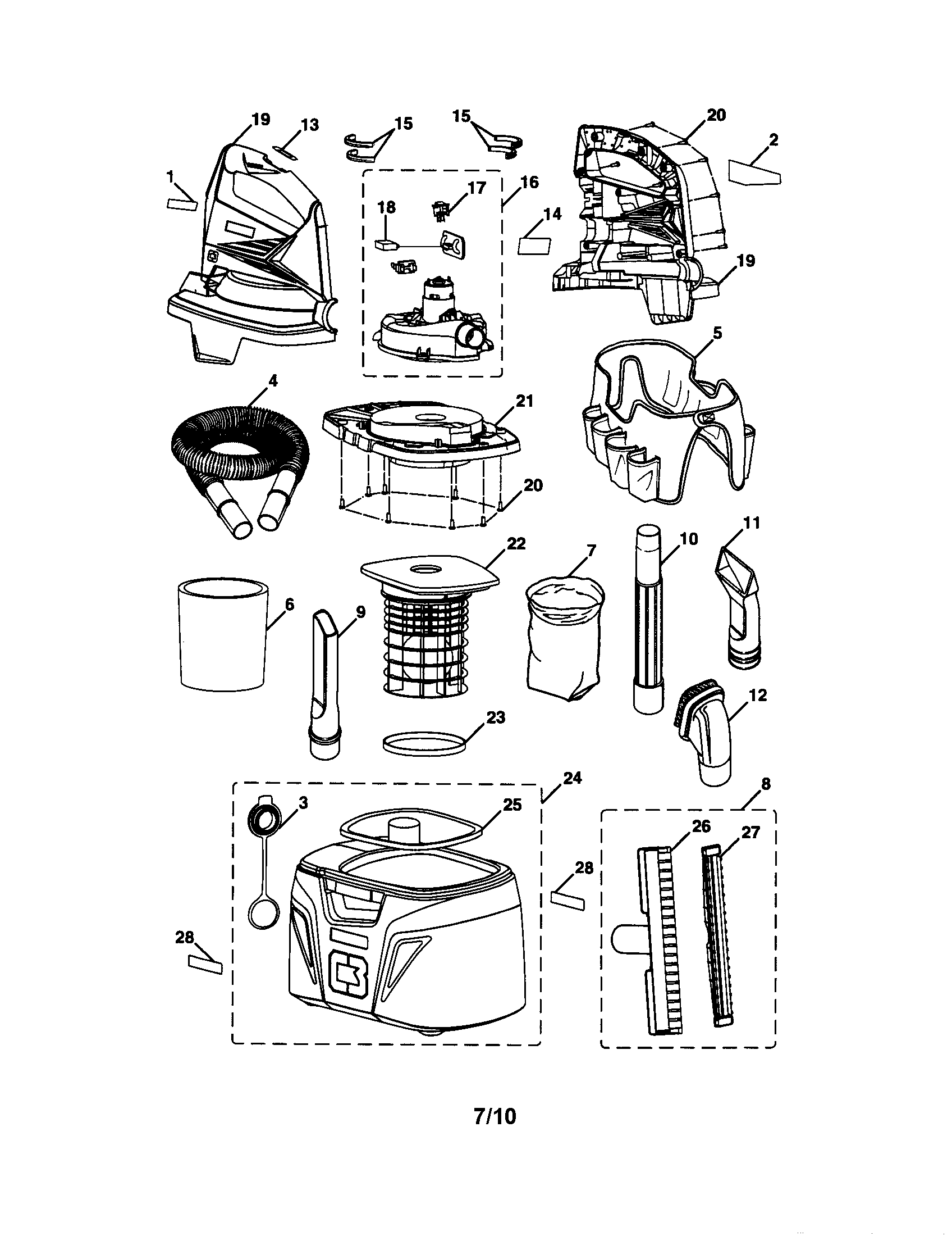 hight resolution of craftsman 315175980 shop vac diagram