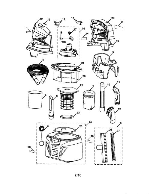 small resolution of craftsman 315175980 shop vac diagram