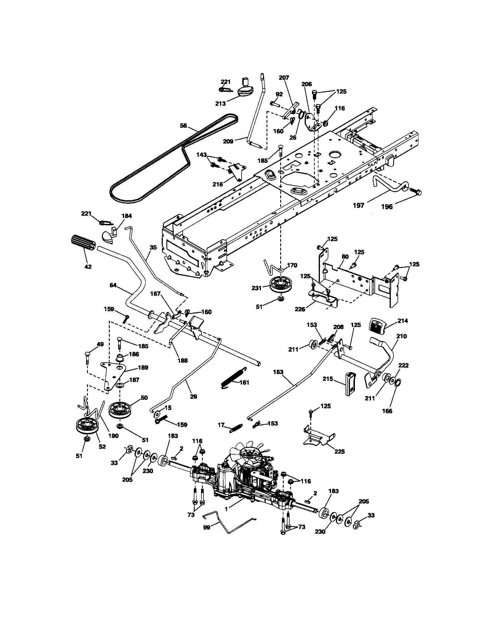 GROUND DRIVE Diagram & Parts List for Model 917289903