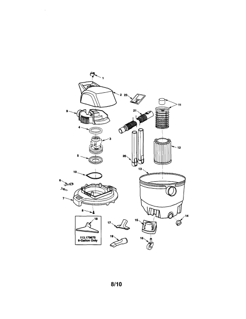 small resolution of craftsman 113179650 wet dry vac diagram