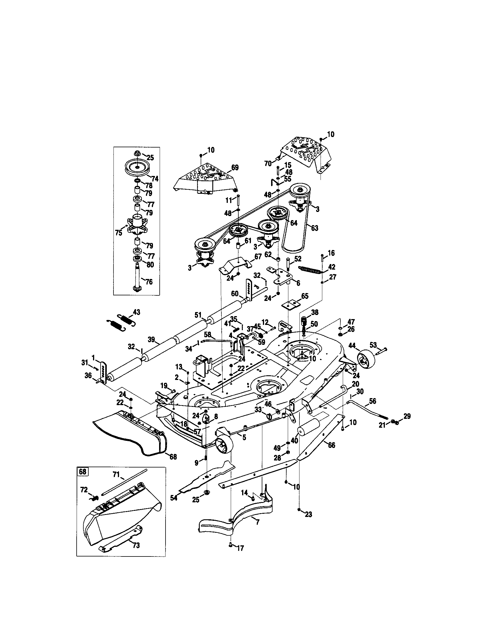 hight resolution of craftsman pgt9000 deck diagram