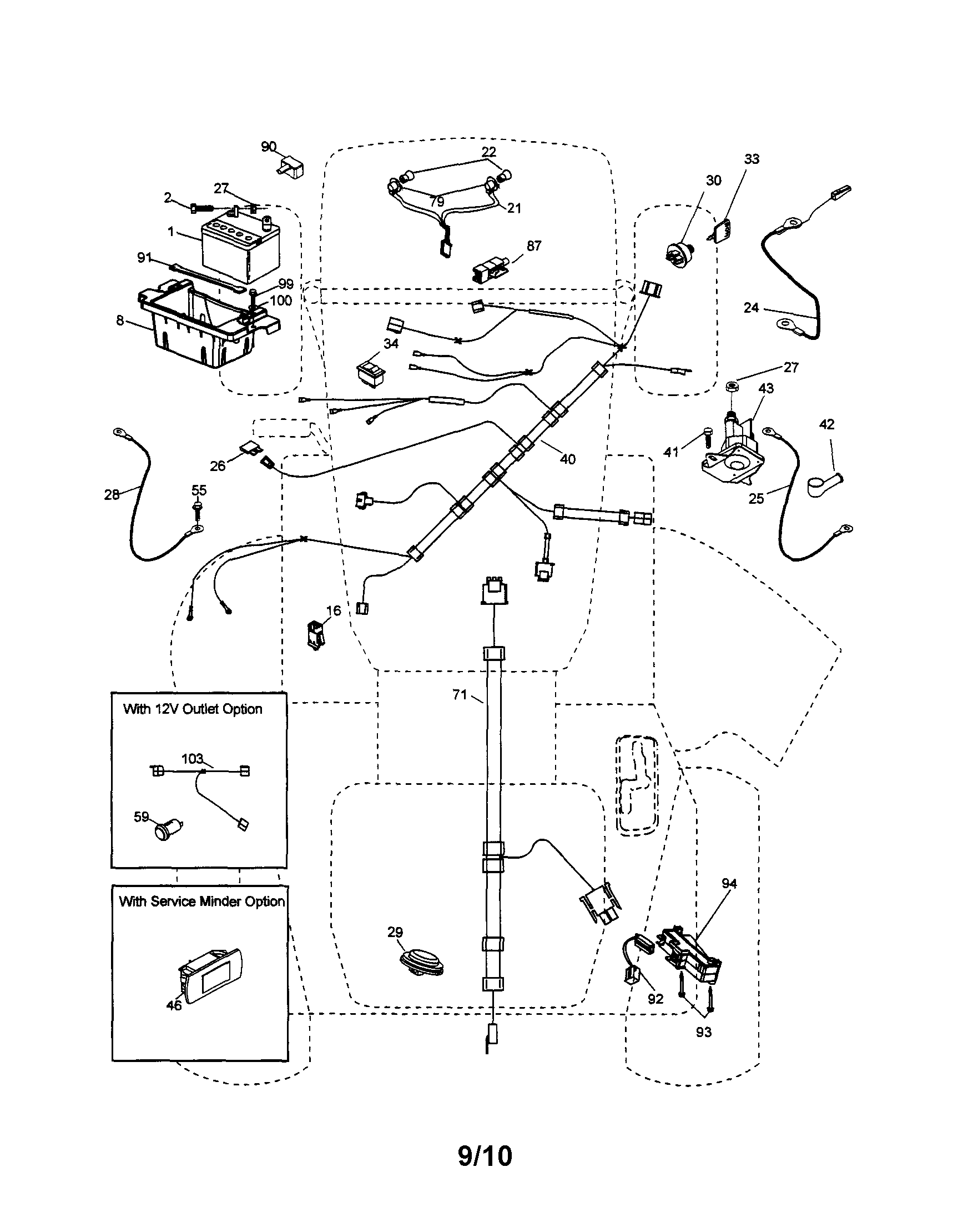 hight resolution of ariens 96046001100 electrical diagram