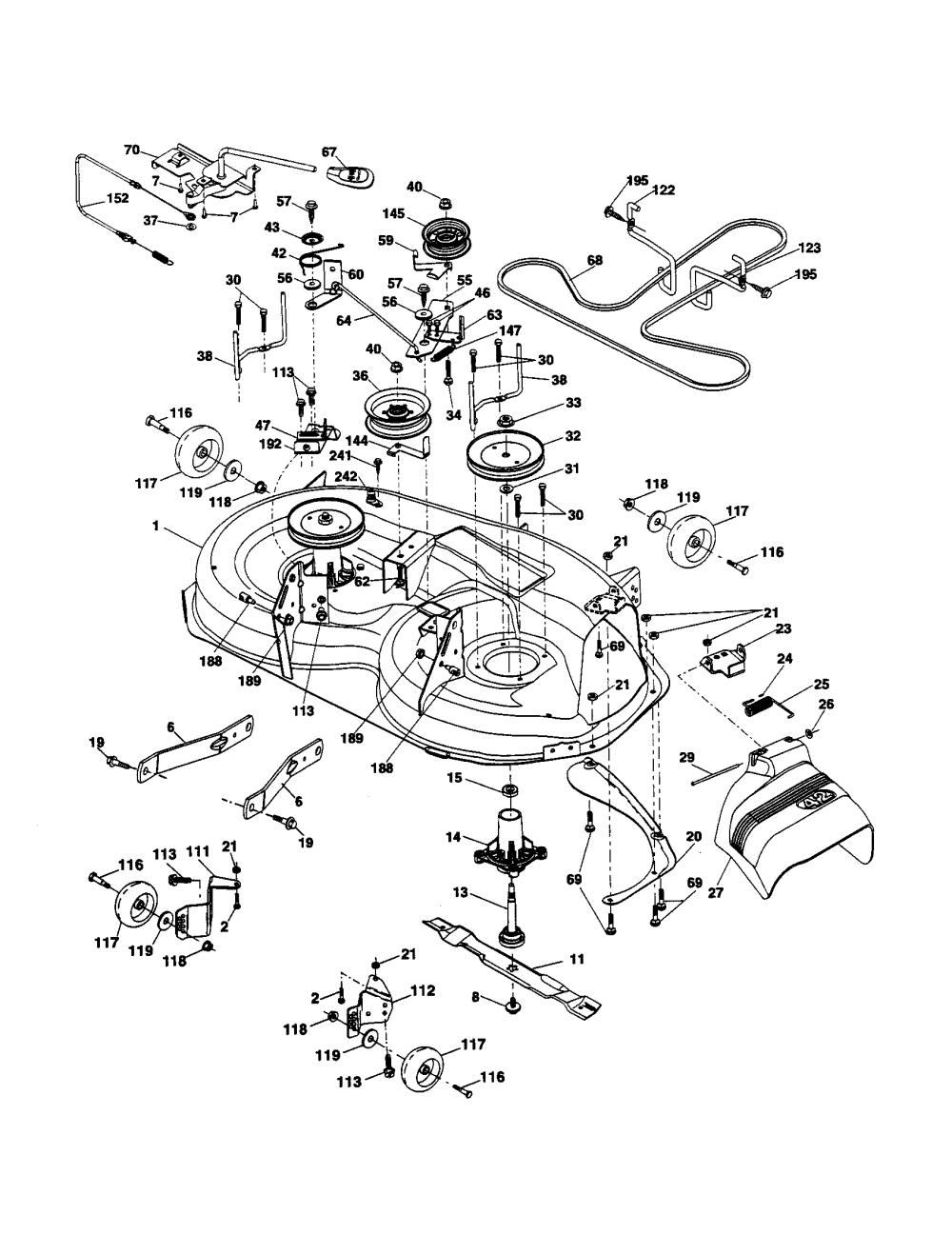 medium resolution of ariens 936042 mower deck diagram