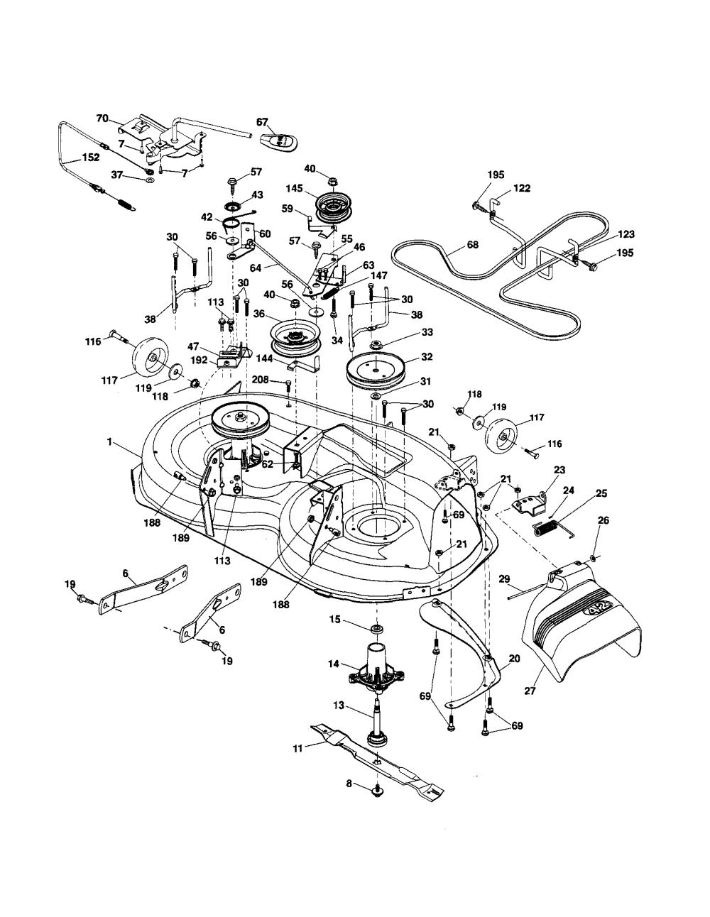 medium resolution of 116 john deere lawn tractor wiring diagram