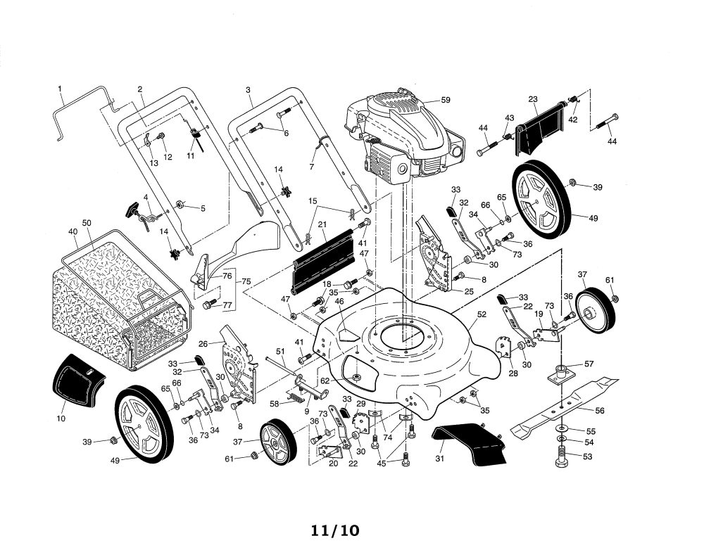 medium resolution of looking for ariens model 96136000602 gas walk behind mower repairariens 96136000602 lawn mower diagram