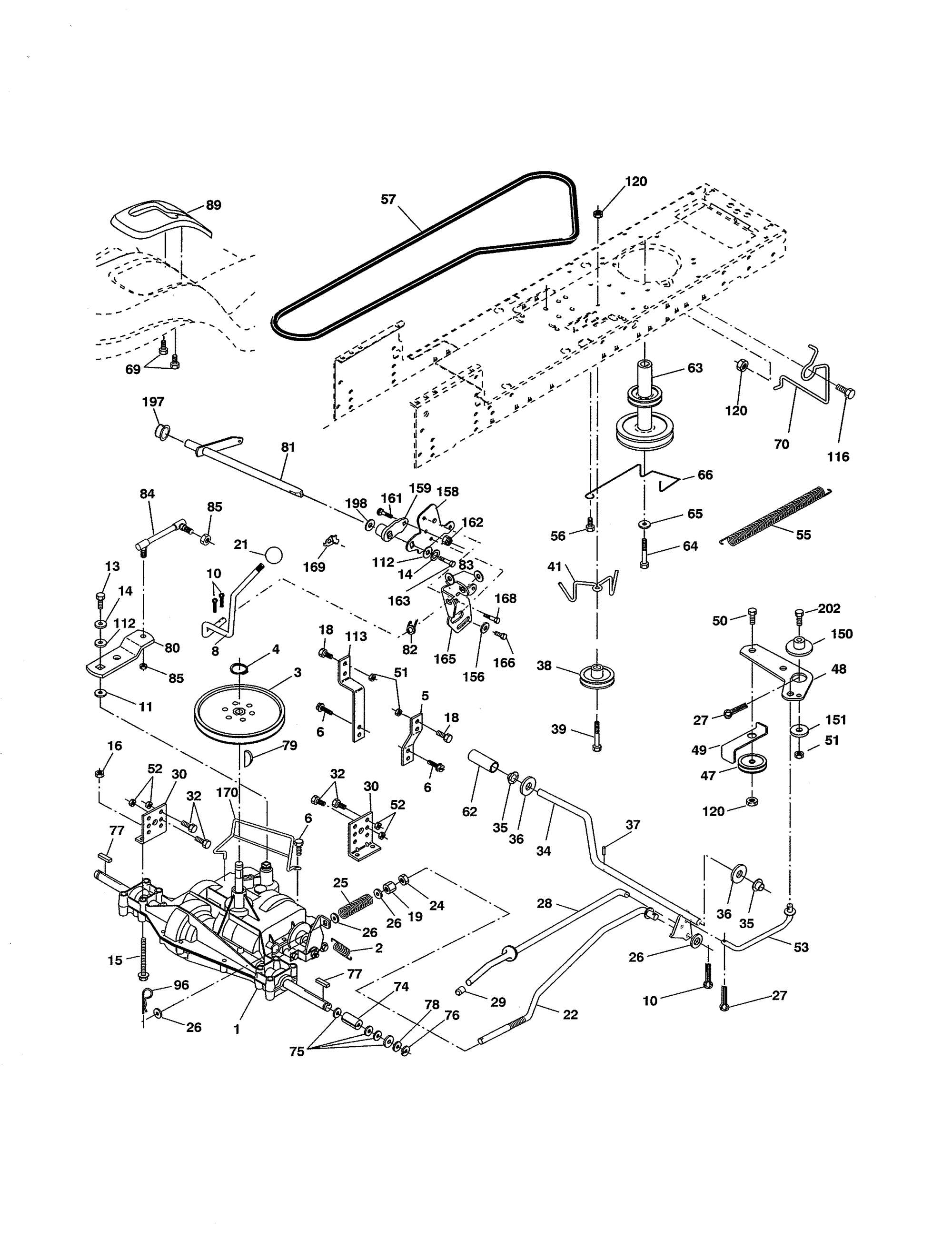 hight resolution of ariens 93604600 drive diagram