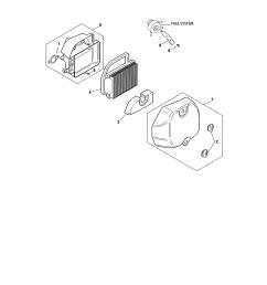 kohler sv590 0220 air intake filtration diagram [ 2550 x 3300 Pixel ]