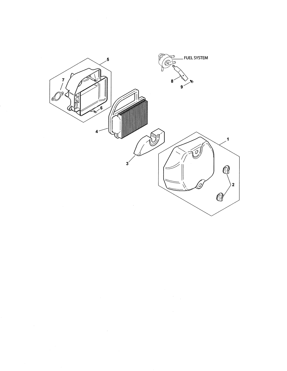medium resolution of kohler sv590 0220 air intake filtration diagram
