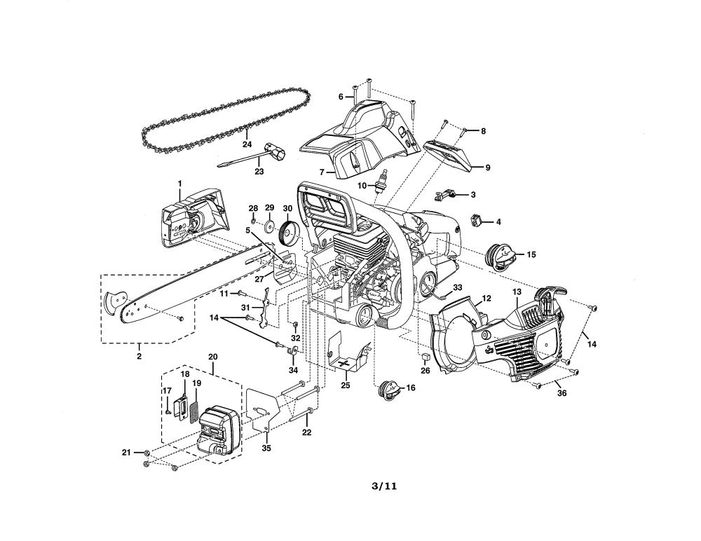 medium resolution of homelite ut10519 housing muffler diagram