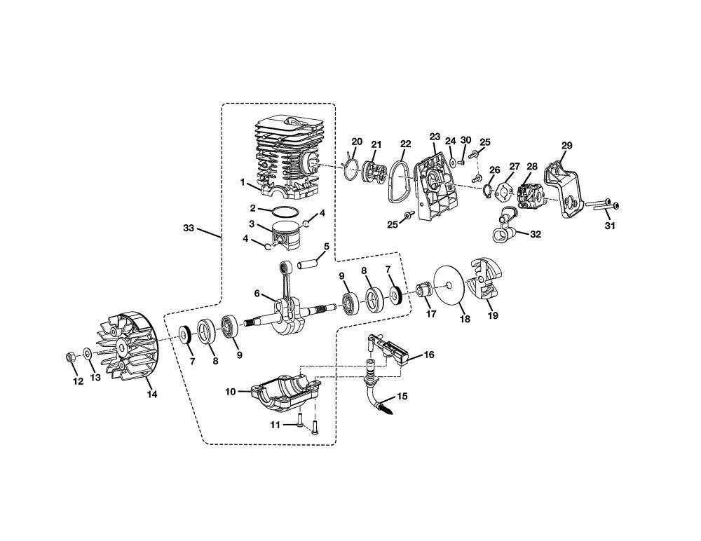 medium resolution of homelite ut10519 short block diagram