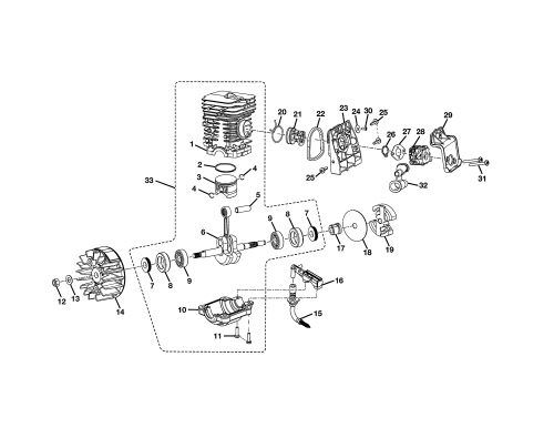 small resolution of homelite ut10519 short block diagram