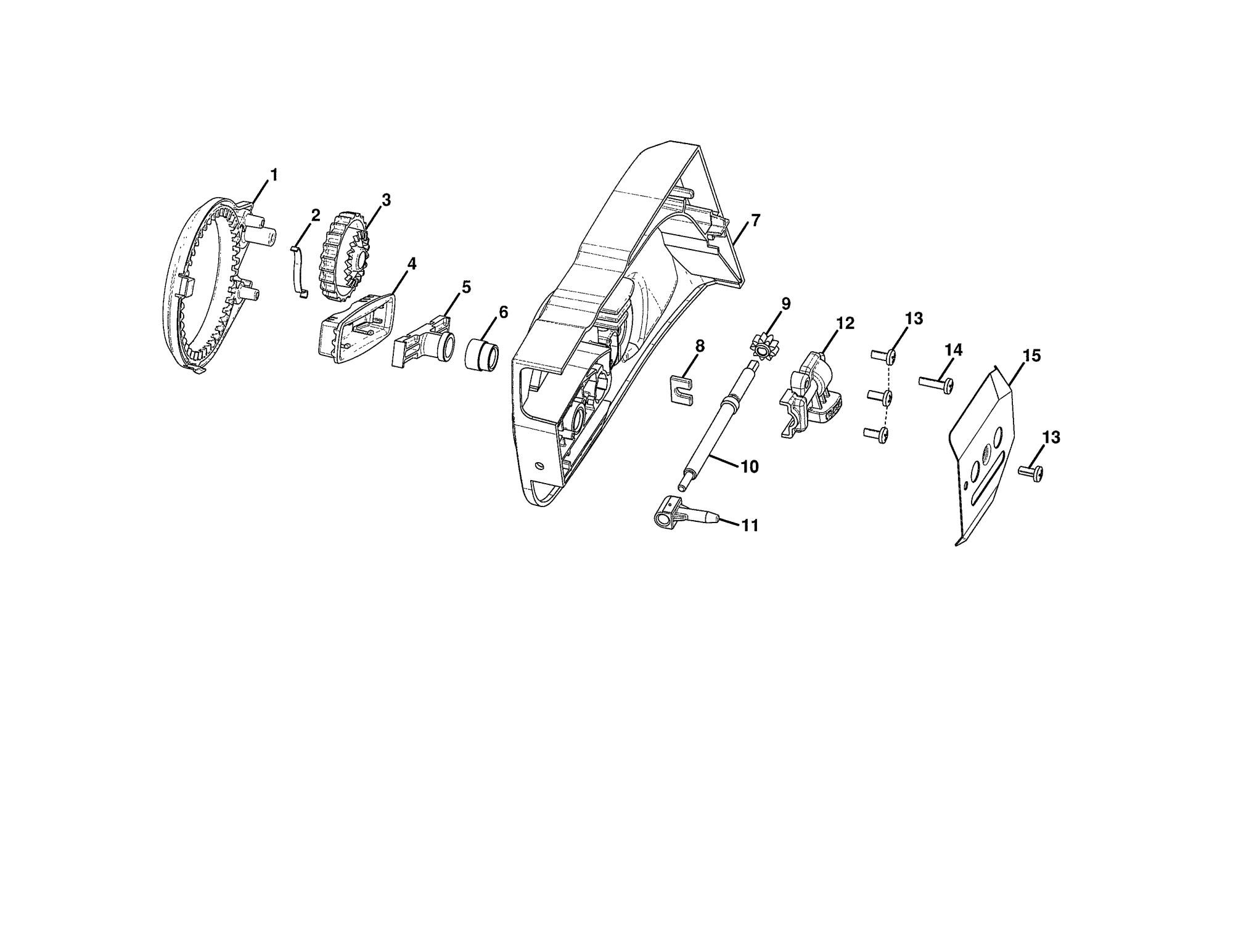 hight resolution of homelite ut10519 clutch gear covers diagram