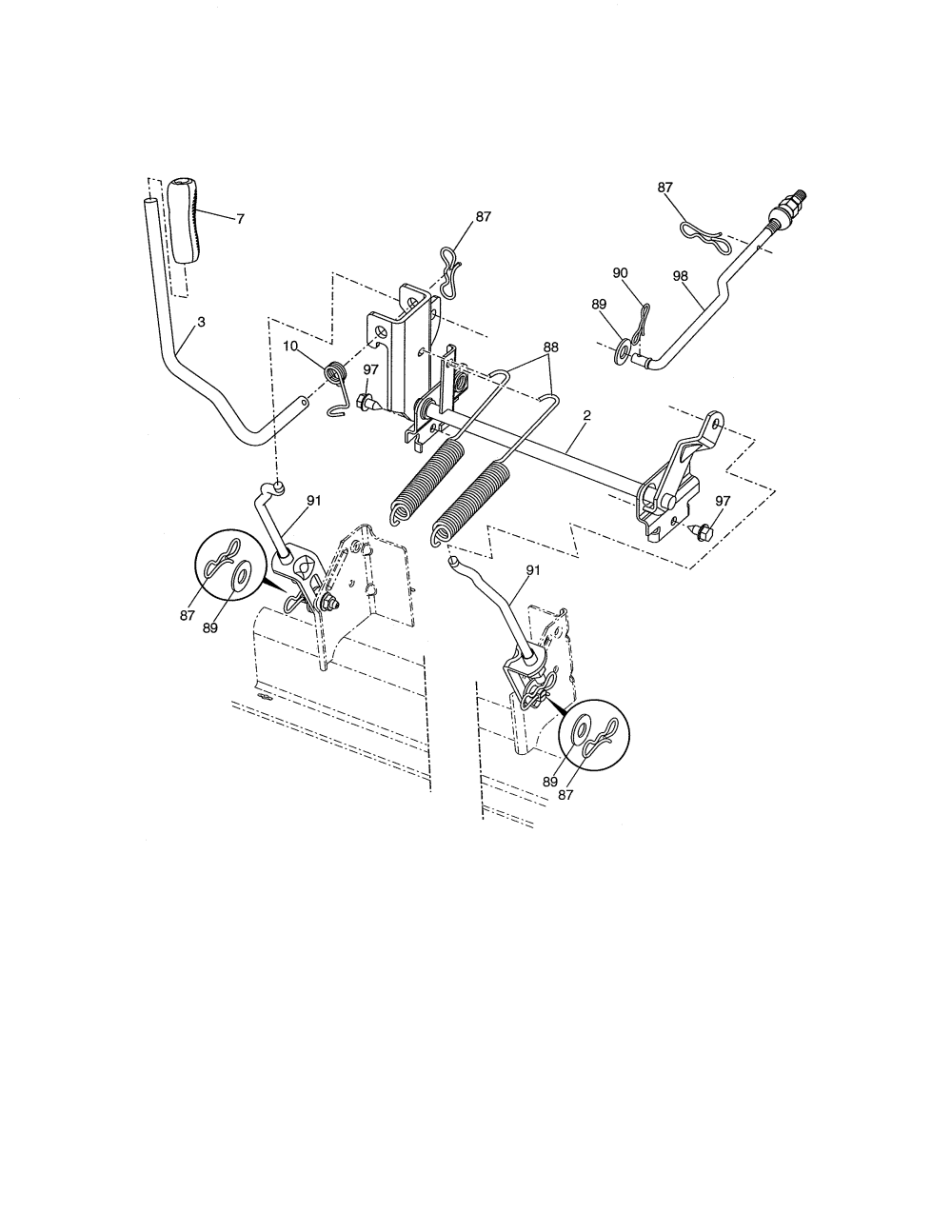 medium resolution of looking for craftsman model 917288611 front engine lawn tractor craftsman steering diagram craftsman 917288611 lift assembly