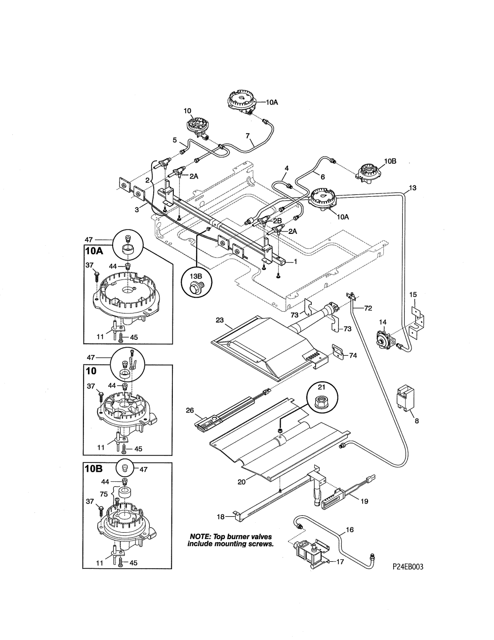 medium resolution of  wrg 1887 gas cooktop schematic