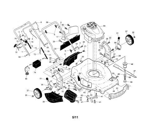 small resolution of craftsman 917376241 engine housing handle diagram