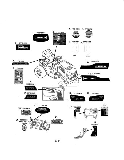 small resolution of craftsman 247288851 decals diagram