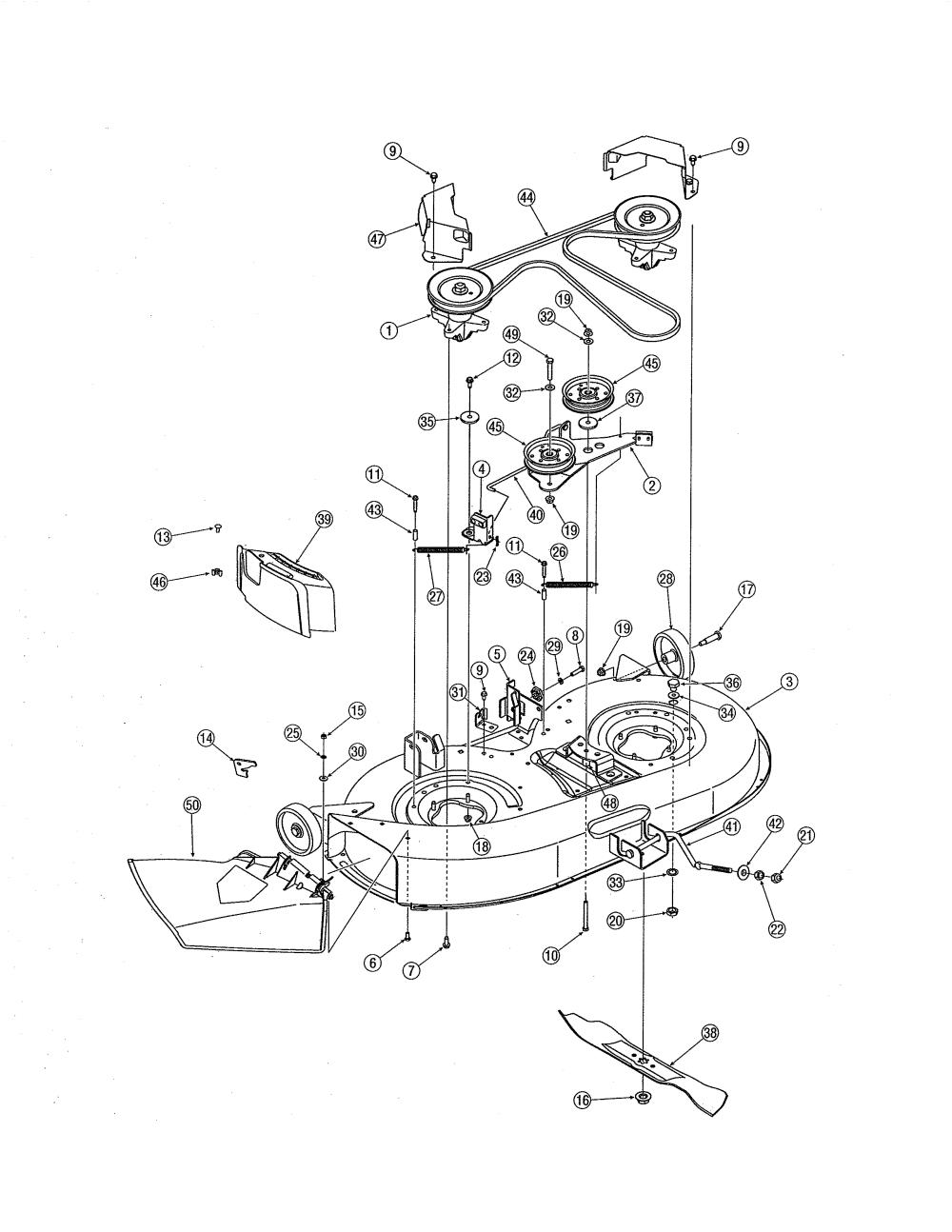 medium resolution of differential mtd 13bn771g729 42 deck diagram
