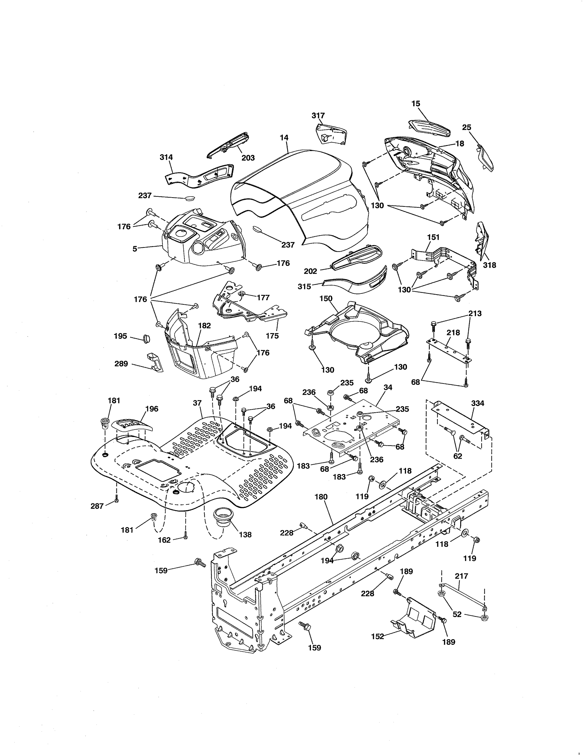 hight resolution of electrical craftsman 917288520 chassis diagram