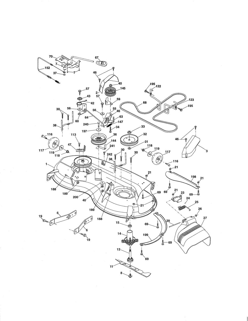 medium resolution of craftsman 917288520 mower deck diagram