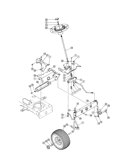 small resolution of mtd 13ag601h729 steering diagram