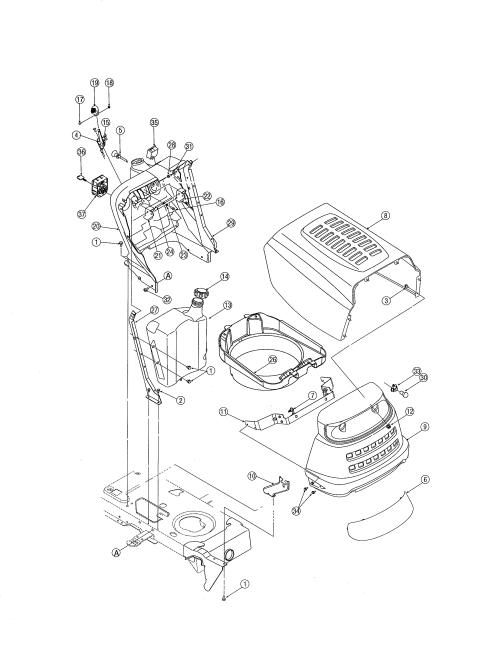 small resolution of mtd 13ag601h729 hood bumper diagram