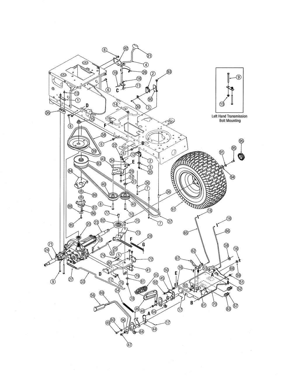 medium resolution of mtd 13ag601h729 drive diagram